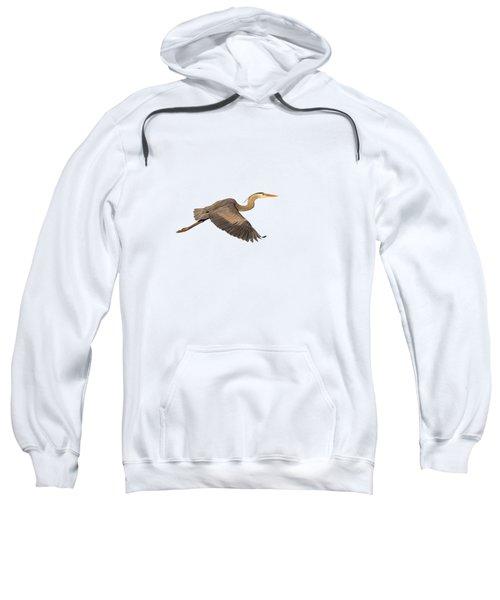 Isolated Great Blue Heron 2019-1 Sweatshirt