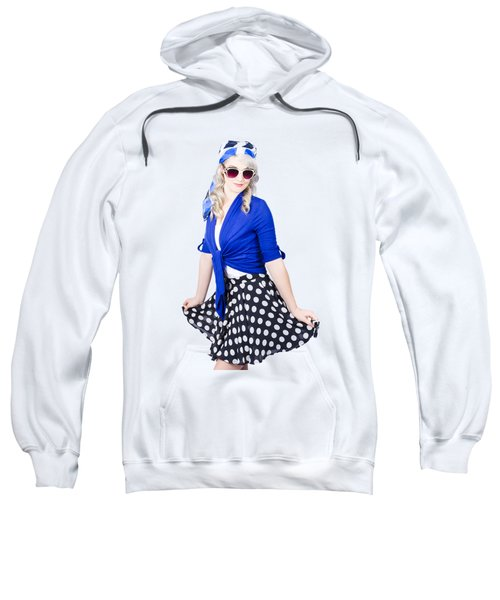 Isolated Pin-up Woman Posing Sweatshirt