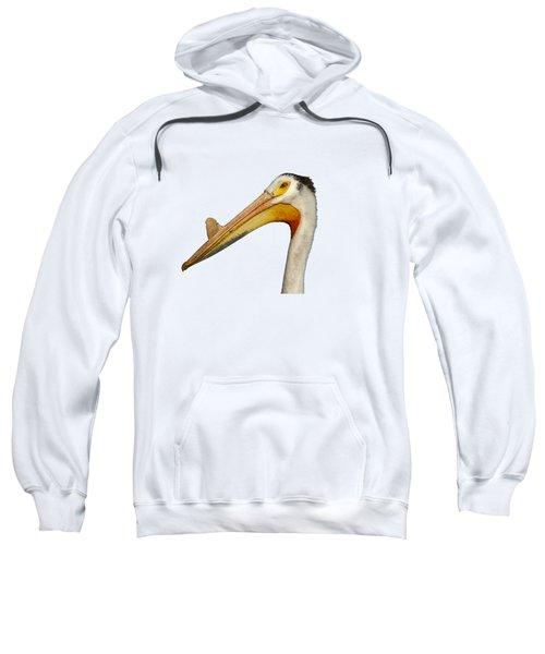 Isolated White Pelican 2014-1 Sweatshirt