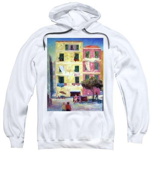 Italian Piazza With Laundry Sweatshirt