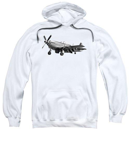 Janie P-51 In Black And White Sweatshirt