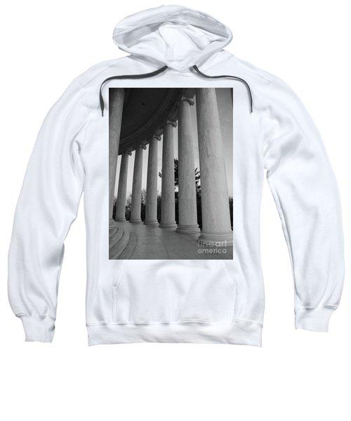 Jefferson Memorial In Black And White Sweatshirt