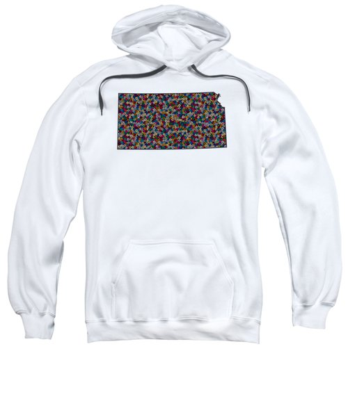 Kansas Map - 1 Sweatshirt