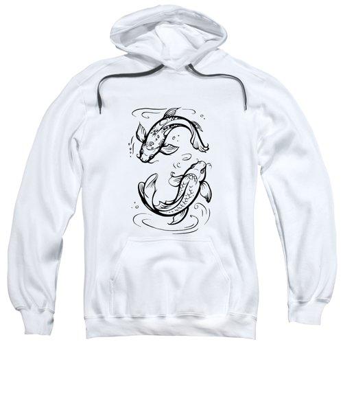 Koi Carps / Pisces Zodiac Sign Sweatshirt
