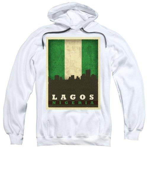 Lagos Nigeria World City Flag Skyline Sweatshirt