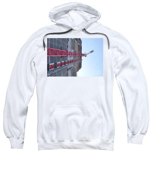 Large Scale Construction Site With Crane Sweatshirt