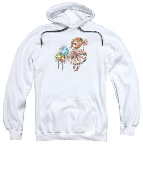 Little Ballerina With Magic Wands Sweatshirt