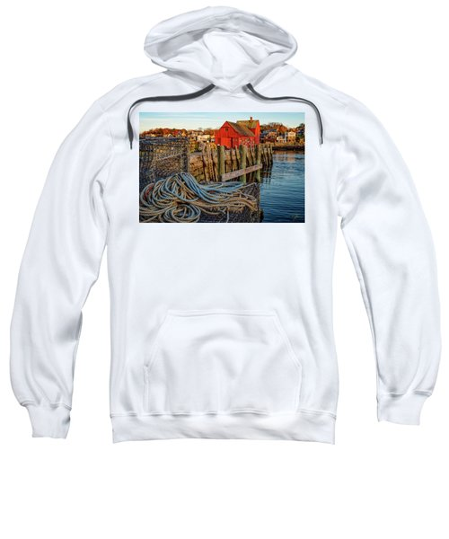 Lobster Traps And Line At Motif #1 Sweatshirt