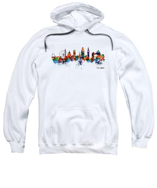 London Watercolor Skyline Silhouette Sweatshirt