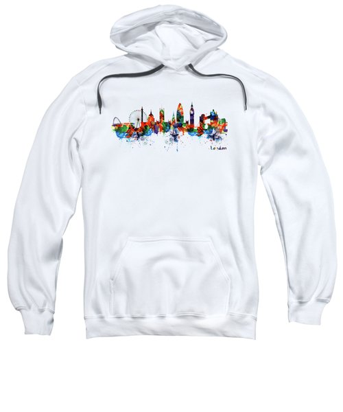 London Watercolor Skyline Silhouette Sweatshirt