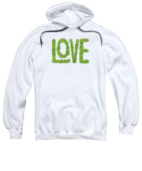 Love Succulent White Background Sweatshirt