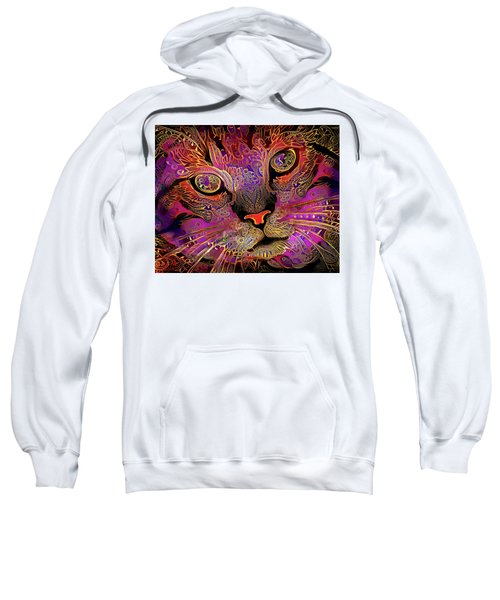 Maggie May The Magenta Tabby Cat Sweatshirt