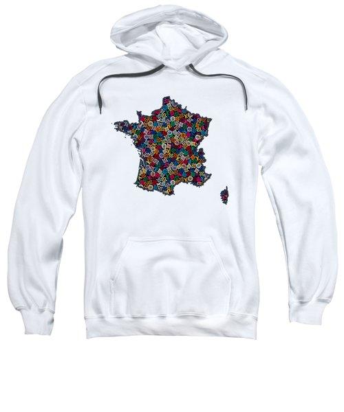 Map Of France-1 Sweatshirt