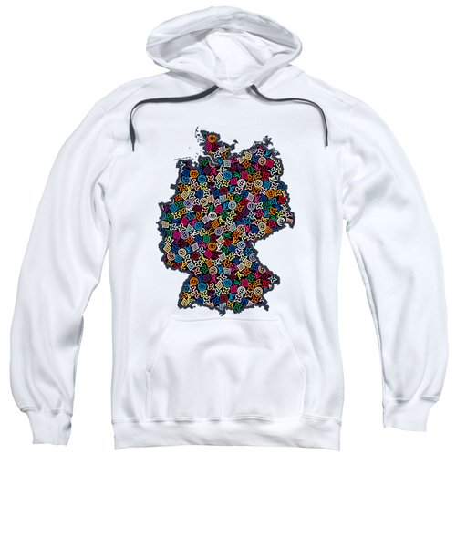 Map Of Germany-1 Sweatshirt