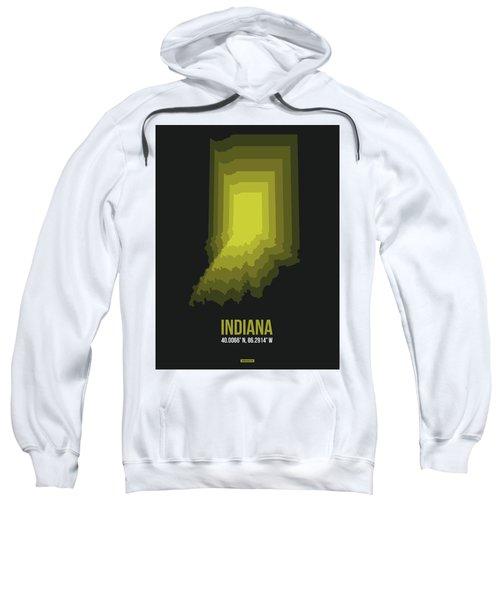 Map Of Indiana 3 Sweatshirt