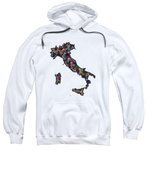 Map Of Italy-1 Sweatshirt