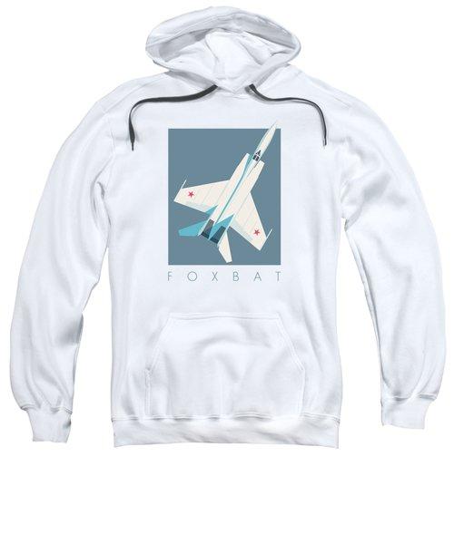 Mig-25 Foxbat Interceptor Jet Aircraft - Slate Sweatshirt