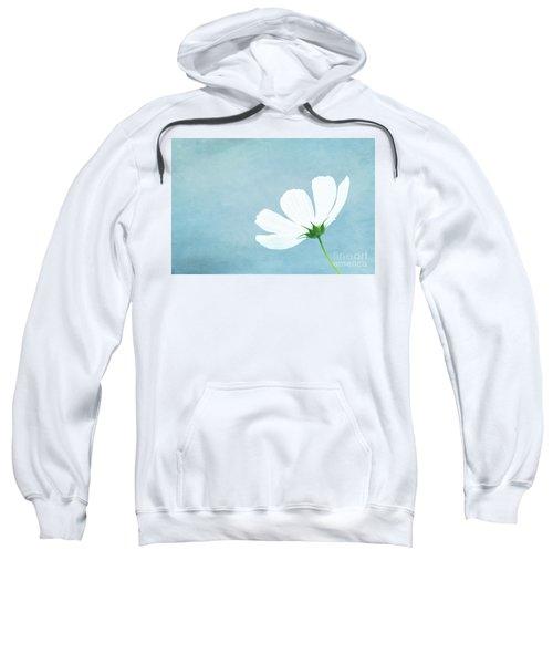 Minimalist White Cosmos Sweatshirt