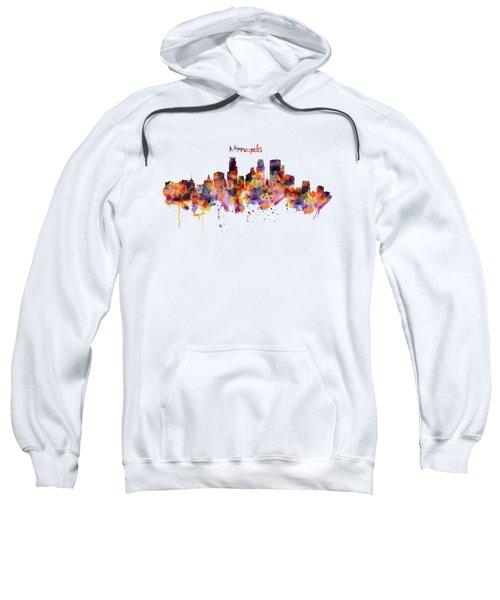 Minneapolis Watercolor Skyline Sweatshirt