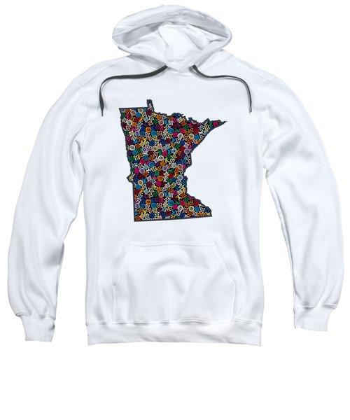 Minnesota Map - 1 Sweatshirt