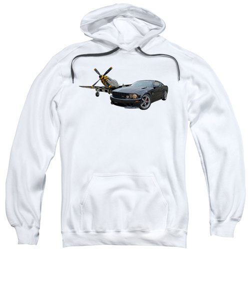 Mission Accomplished - P51 With Saleen Mustang Sweatshirt