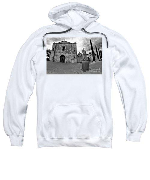 Mission San Gabriel San Gabriel Ca Black And White Sweatshirt