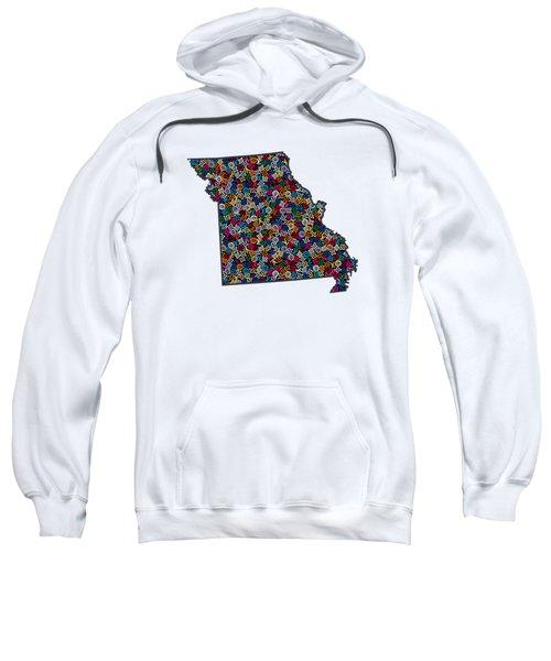 Missouri Map - 3 Sweatshirt