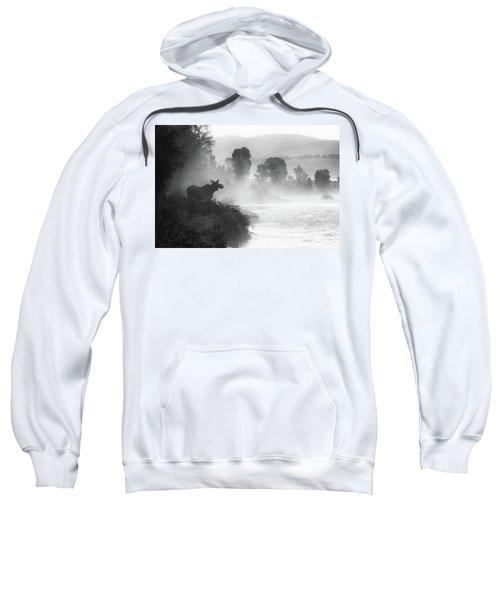Misty Morning Moose Sweatshirt