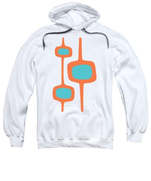 Mod Pod Three In Turquoise And Orange Sweatshirt