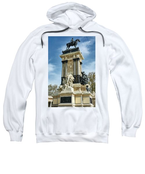 Monument To King Alfonso Xii At Retiro Park In Madrid, Spain Sweatshirt