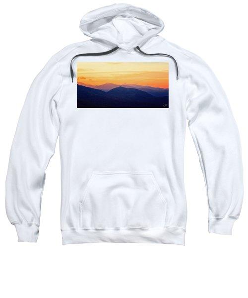 Mountain Light And Silhouette  Sweatshirt