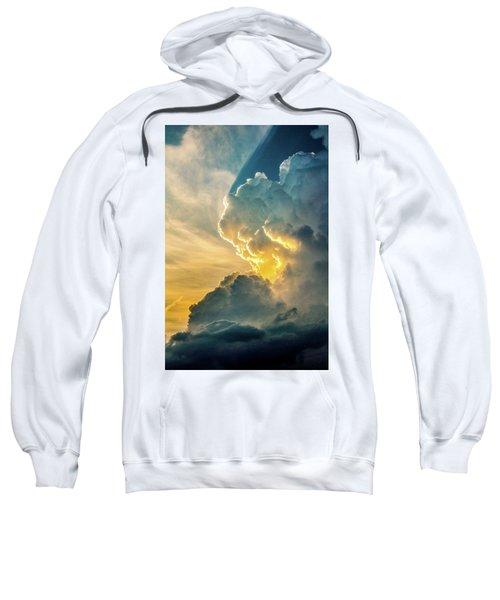 Nebraska Sunset Thunderheads 075 Sweatshirt