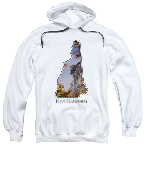 New Hampshire Old Man Logo Transparency Sweatshirt