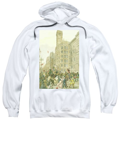 New Years Mummers On Chestnut Street Sweatshirt