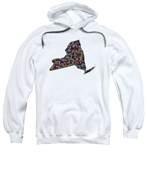 New York Map - 1 Sweatshirt