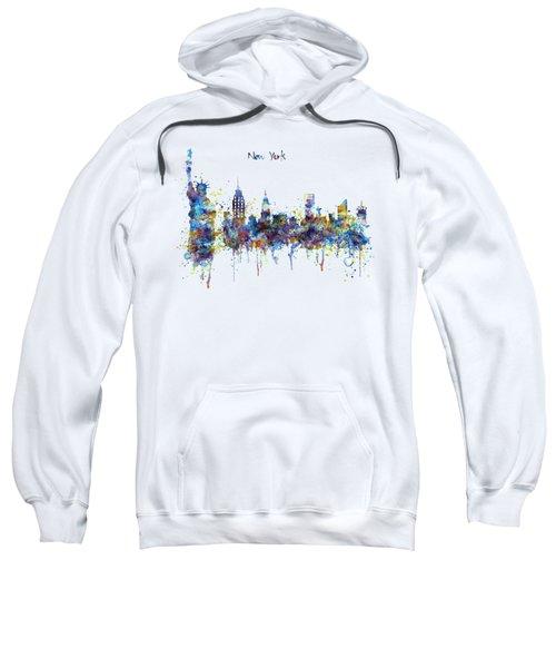 New York Watercolor Skyline Sweatshirt