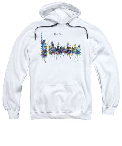 New York Watercolor Skyline Sweatshirt