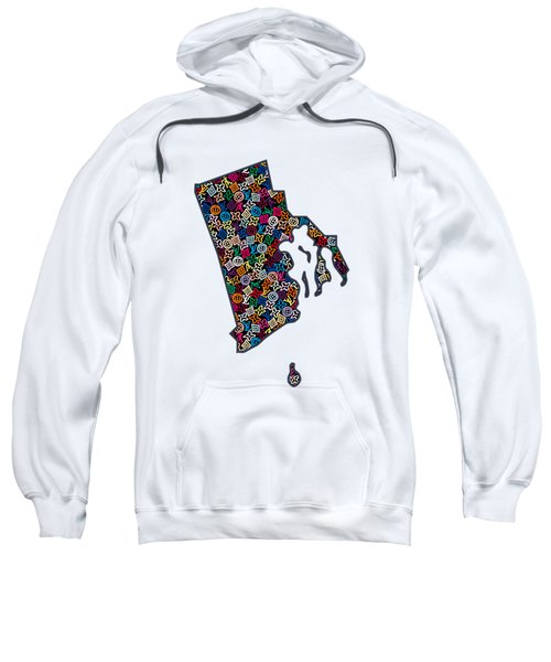 Rhode Island Map - 1 Sweatshirt