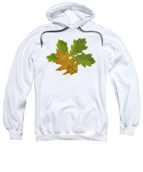 Oak Leaves Pattern Sweatshirt