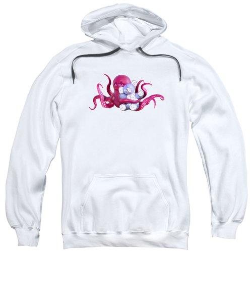 Octopus Pink With Bear Sweatshirt