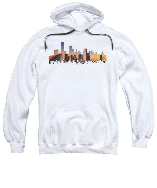 Okc Skyline Sunset Silhouette Sweatshirt
