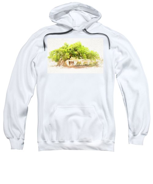 Old Leaning Tree At Sandy Hill  Anguilla Sweatshirt