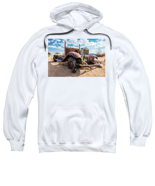 Old And Abandoned Car 3 In Solitaire, Namibia Sweatshirt