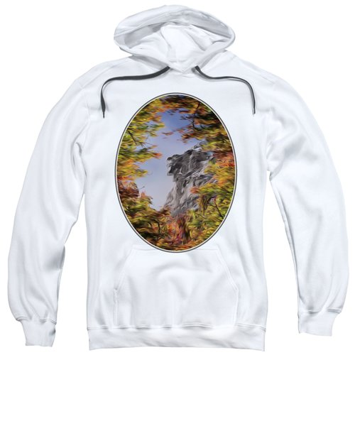 Old Man Oil Paint Transparent Oval Sweatshirt