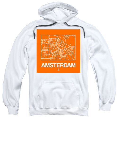 Orange Map Of Amsterdam Sweatshirt