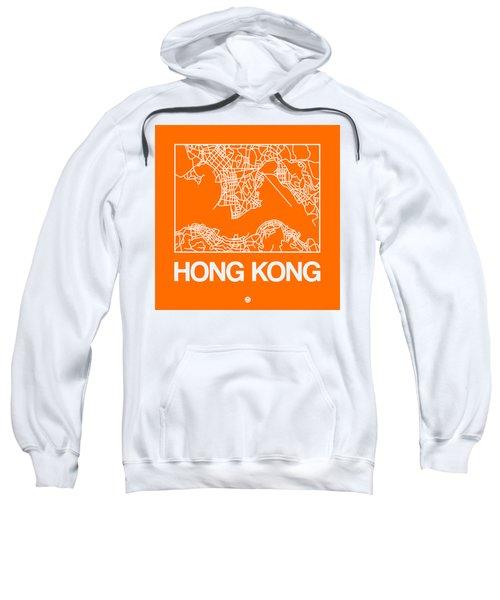 Orange Map Of Hong Kong Sweatshirt