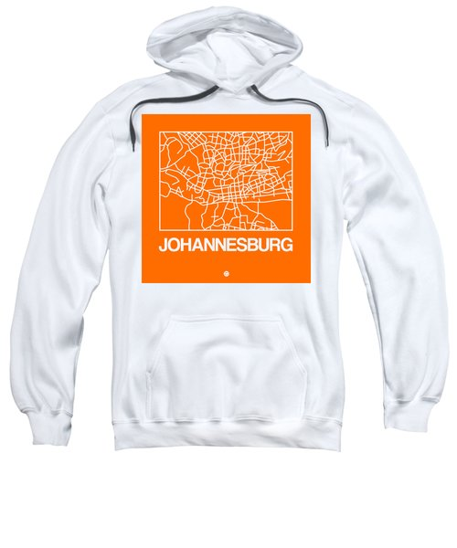 Orange Map Of Johannesburg Sweatshirt