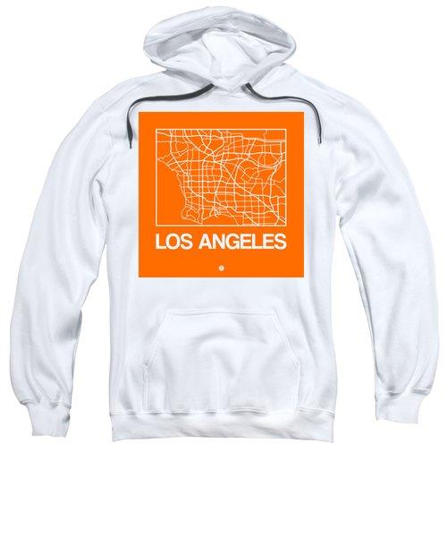 Orange Map Of Los Angeles Sweatshirt