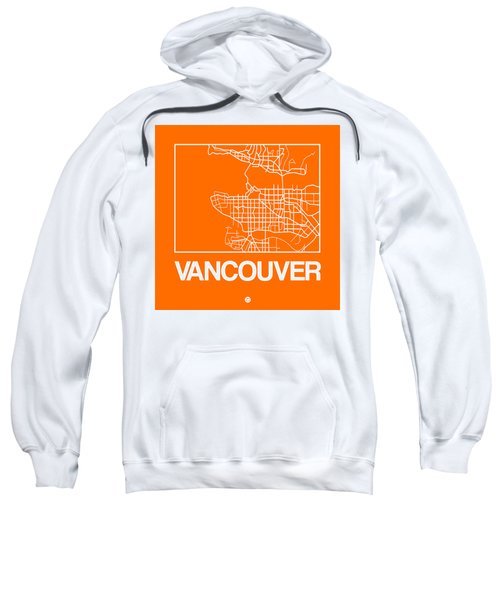 Orange Map Of Vancouver Sweatshirt