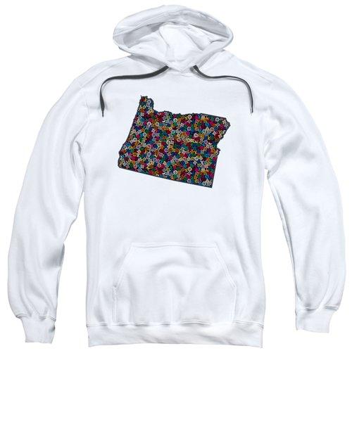 Oregon Map - 1 Sweatshirt